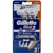 خودتراش ژیلت Gillette مدل Blue3 Comfort بسته سه عددی