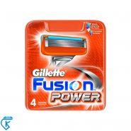 تیغ یدک فیوژن ۵ تیغه ژیلت 4 تایی