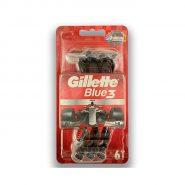خودتراش ژیلت Gillette مدل Blue3 بسته 6 عددی
