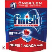 قرص ماشین ظرفشویی همه کاره محافظ شیشه 80 عددی فینیش (Finish)