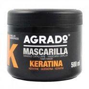 ماسک مو کراتين آگرادو AGRADO  حجم 500 میل محصول کشور اسپانیا