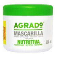 ماسک موی آگرادو AGRADO(مغذی،آبرسان و بازسازی کننده خیلی قوی) محصول اسپانیا همراه با آبکشی، 500 میل