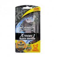 خودتراش سه لبه ویلکینسون WILKINSON XTREME 3 BLACK EDITION بسته 6 عددی