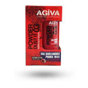 پودر حالت دهنده مو آگیوا AQIVA شماره 03حجم 20 گرم
